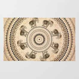 Mandala. Indian decorative pattern. Rug