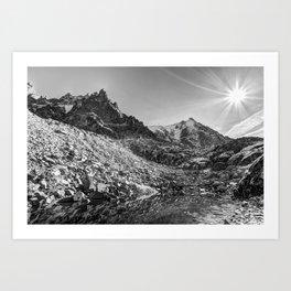 Mont Blanc Lake Art Print