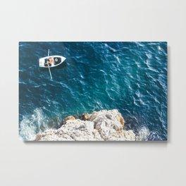 Dubrovnik Boat Man - Traveling photography Metal Print