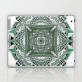 Green mandala Laptop & iPad Skin