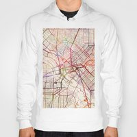 dallas Hoodies featuring Dallas by MapMapMaps.Watercolors