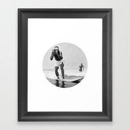 The Surfing Photographer Framed Art Print