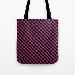 Festival Fuchsia and Black Stripe Tote Bag