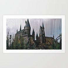 Hogwarts Motto Art Print