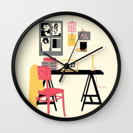 simple drawing interior Wall Clock