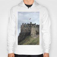 edinburgh Hoodies featuring Edinburgh Castle by RMK Creative