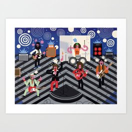 Captain Beefheart & His Magic Band Art Print
