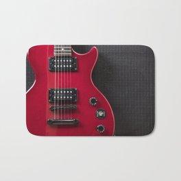 Red Guitar Bath Mat