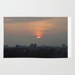 Kolkata sunset Rug