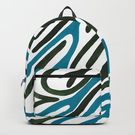Zebra Print - Blue and Forest Green Backpack