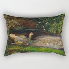 John Everett Millais - Ophelia Rectangular Pillow