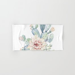 Perfect Cacti Rose Hand & Bath Towel