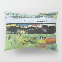 Salvation Green Abstract Contemporary Artwork Painting Pillow Sham