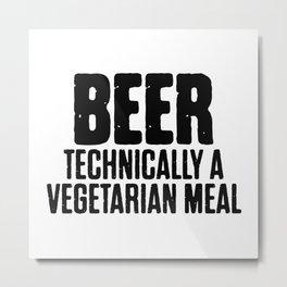 Beer Technically A Vegan Meal Metal Print