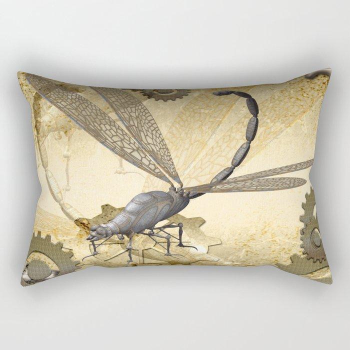 Steampunk, dragonflies Rectangular Pillow
