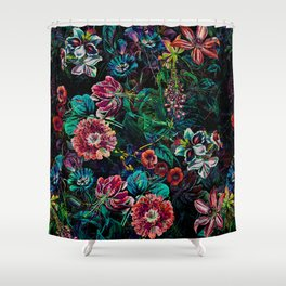 EXOTIC GARDEN - NIGHT IX Shower Curtain