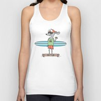 hot dog Tank Tops featuring Hot Dog by parallelish
