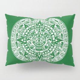 Mayan Calendar // Forest Green Pillow Sham