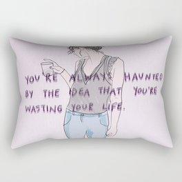wasted life Rectangular Pillow