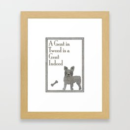 A Gent in Tweed is a Gent Indeed Framed Art Print