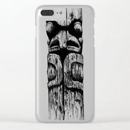 Totem Pole Sketch Clear iPhone Case