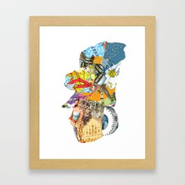 CutOuts - 4 Framed Art Print
