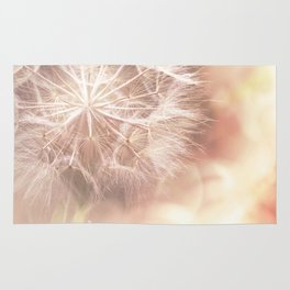 Pink Macro (2) Dandelion Flower - Floral Nature Photography Art and Accessories Rug