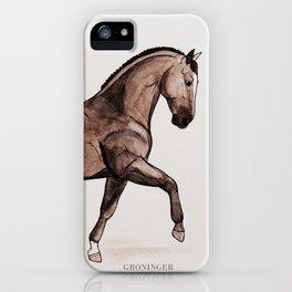 GRONINGEN HORSE - Black brown iPhone Case