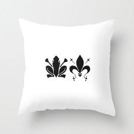 French Frog Kekistan Celtic Clovis Gauls Medieval Fleur de Lys Throw Pillow