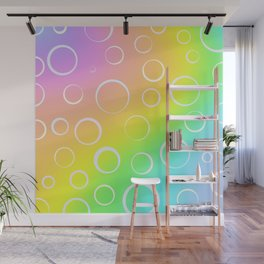 Colorful Rainbow Gradient Design! Wall Mural