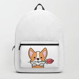 Valentine's Day Corgi Backpack