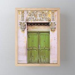 Havana Door - Cuba Travel, Architecture Photography Framed Mini Art Print