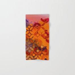 a piece of orange and purple Hand & Bath Towel