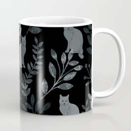 Watercolor Floral and Cat III Coffee Mug