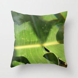 Bird of Paradise Leaf Throw Pillow