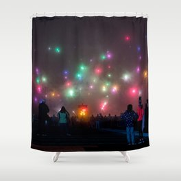 Firework Sky Shower Curtain