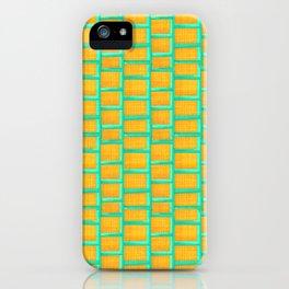 Turquoise Grid iPhone Case
