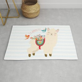 Llamaste - When A Llama Offers You A Respectful Greeting Rug