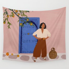 Pink Walls and Morocco Wall Tapestry