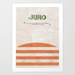 Juno - Alternative Movie Poster, classic movie, funny movie, minimal movie poster Art Print