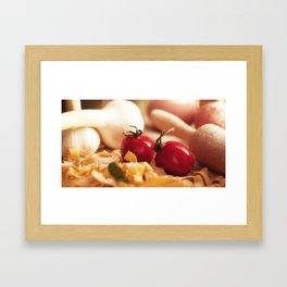 Fresh tomatoes for Italian pasta Framed Art Print