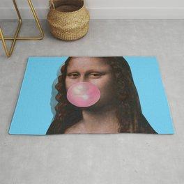 Mona Lisa (Leonardo da Vinci) with Bubblegum Rug