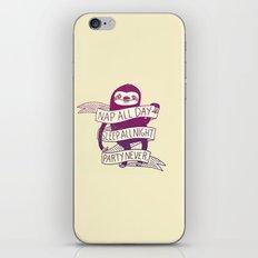 Sloth Life iPhone & iPod Skin