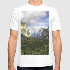 Landscape MMX MEDIUM White Mens Fitted Tee