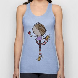 Girl with long legs and a love heart Unisex Tank Top