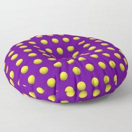 Mardi Gras Purple with yellow dots Floor Pillow