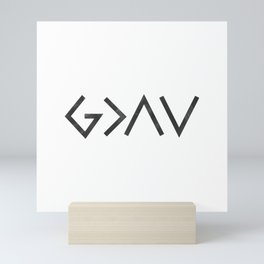 Christian Quote - God Is Greater Than The Highs and Lows Mini Art Print