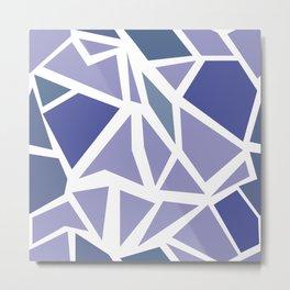 BLUE MOZAIC Metal Print