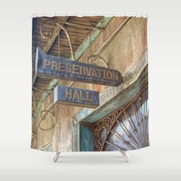 New Orleans Jazz Club Shower Curtain
