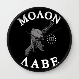 Molon Labe (Black Version) Wall Clock